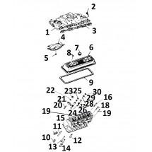 descriptif pièces internes haut moteur V8 / 5.0L / 305