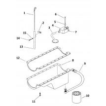 descriptif pièces internes carter moteurs V8/5.0L/305 et V8/5.7L/350