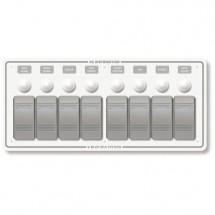 tableau électrique profilé plastique gris 8 positions