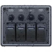 tableau électrique profilé horizontal plastique noir 4 positions