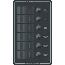 tableau électrique vertical profilé plastique noir 6 positions