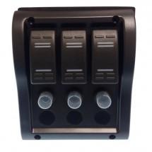tableau électrique 3 positions 110 x 130mm