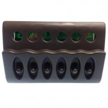 tableau électrique profilé plastique gris 4 positions