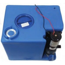 waste tank with macerator pump - 56L - 45X40X35 - 12V