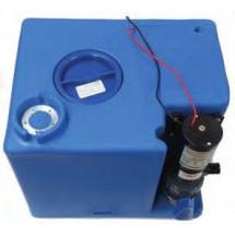 waste tank with macerator pump - 56L - 45X40X35 - 24V